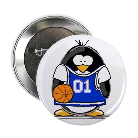 "Basketball Penguin 2.25"" Button (100 pack)"