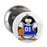 Basketball Penguin Button