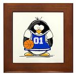 Basketball Penguin Framed Tile