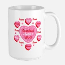 Grandma's Sweethearts Personalized Large Mug