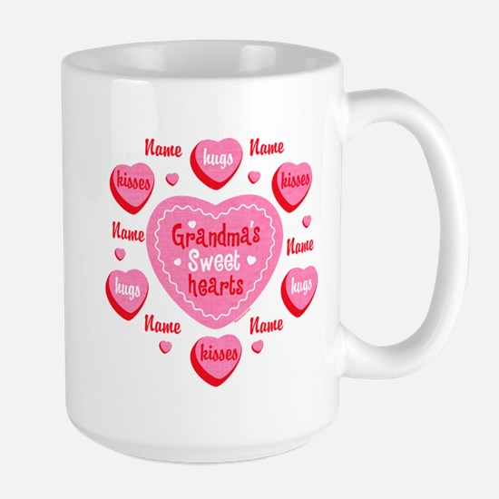 Grandma's Sweethearts Personalized Large Mug