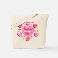 Grandma's Sweethearts Personalized Tote Bag