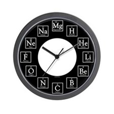Unique Periodic table of the elements Wall Clock