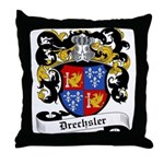 Drechsler Coat of Arms Throw Pillow