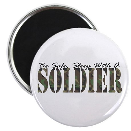Sleep With A Soldier Magnet