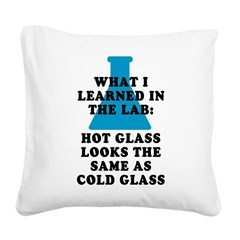 Lab Glass Square Canvas Pillow