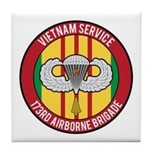 173rd Airborne Vietnam Tile Coaster