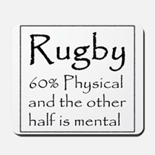 Rugby: 60% Physical Mousepad