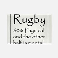 Rugby: 60% Physical Rectangle Magnet