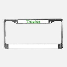 Damian Glitter Gel License Plate Frame
