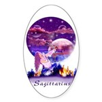 Sagittarius Oval Sticker