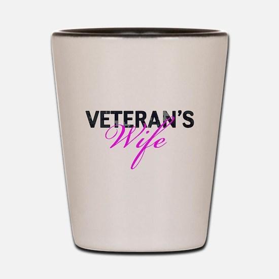Navy Vet's Wife Shot Glass