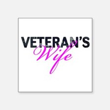 "Navy Vet's Wife Square Sticker 3"" x 3"""