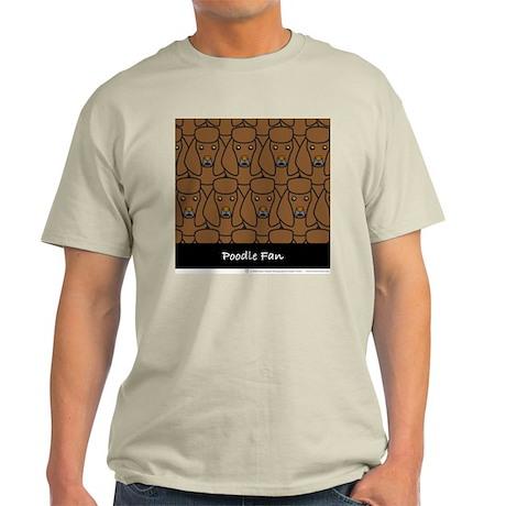 Brown Poodle Fan Ash Grey T-Shirt