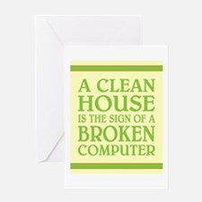 A CLEAN HOUSE IS... Greeting Card