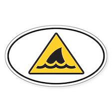 Shark Fin Warning Sign Decal