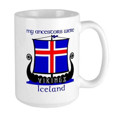 Icelandic Viking Ancestors Large Mug