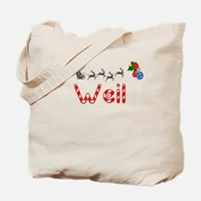 Weil, Christmas Tote Bag