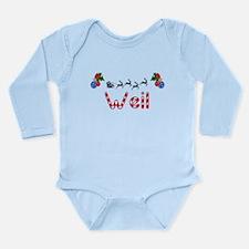 Weil, Christmas Long Sleeve Infant Bodysuit
