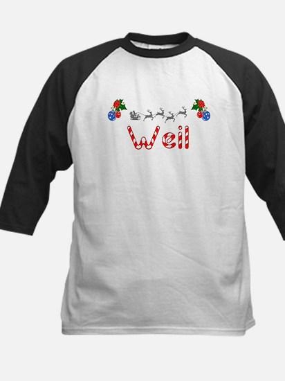 Weil, Christmas Kids Baseball Jersey