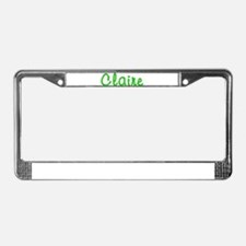 Claire Glitter Gel License Plate Frame