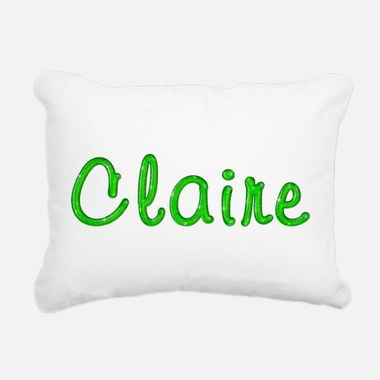 Claire Glitter Gel Rectangular Canvas Pillow