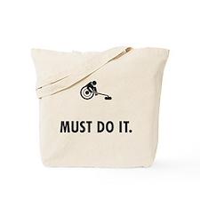 Wheelchair Curling Tote Bag
