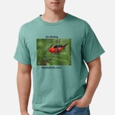 Scarlet Tanager Feeding  Mens Comfort Colors Shirt