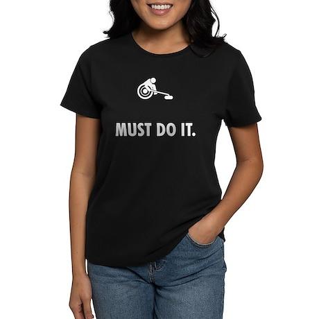 Wheelchair Curling Women's Dark T-Shirt