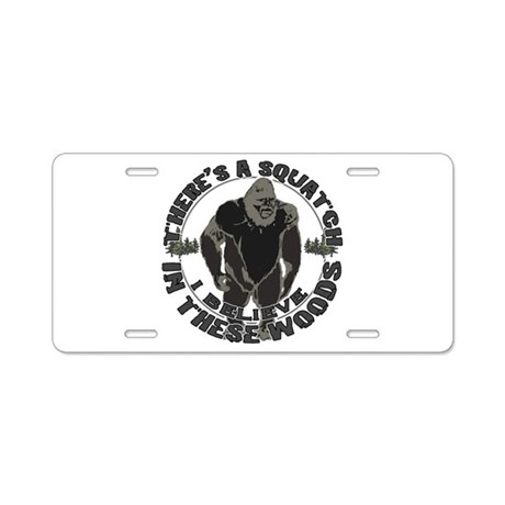 Believe in Bigfoot Aluminum License Plate