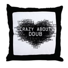 CrazyAboutDdubLight.png Throw Pillow