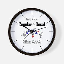 Regular vs. Decaf Wall Clock