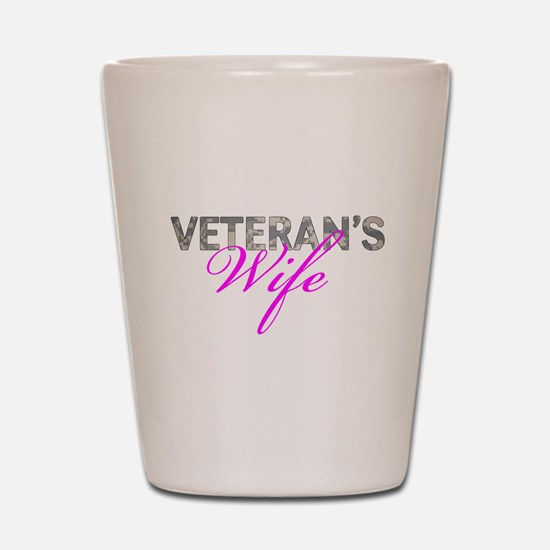ACU Army Vet Wife Shot Glass