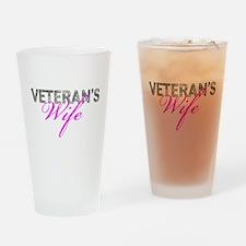 ACU Army Vet Wife Drinking Glass