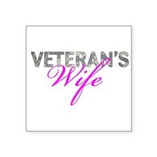 "ACU Army Vet Wife Square Sticker 3"" x 3"""