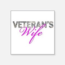 "ACU Army Vet Wife Square Sticker 3"" x 3"""