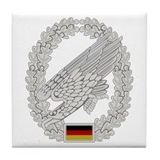 West German Paratrooper Tile Coaster
