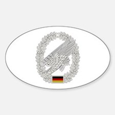 West German Paratrooper Sticker (Oval)