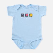 Peace. Love. Lift. Infant Bodysuit