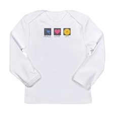 Peace. Love. Lift. Long Sleeve Infant T-Shirt