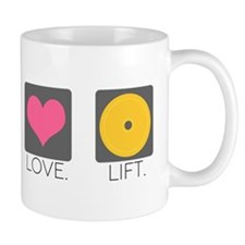 Peace. Love. Lift. Mug
