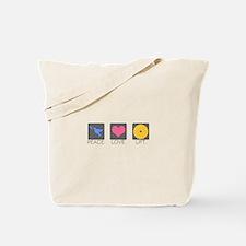 Peace. Love. Lift. Tote Bag