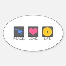 Peace. Love. Lift. Decal