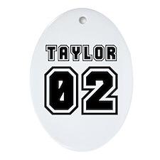 TAYLOR JERSEY 00 Oval Ornament