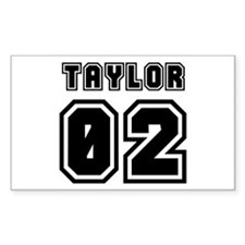 TAYLOR JERSEY 00 Rectangle Decal