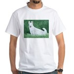 White German Shepherd White T-Shirt