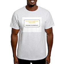 Department of Anthropology Ash Grey T-Shirt