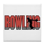 Bowling Nuts Tile Coaster