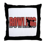Bowling Nuts Throw Pillow