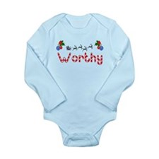 Worthy, Christmas Long Sleeve Infant Bodysuit